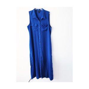Victoria's Secret blue sleeveless long maxi dress